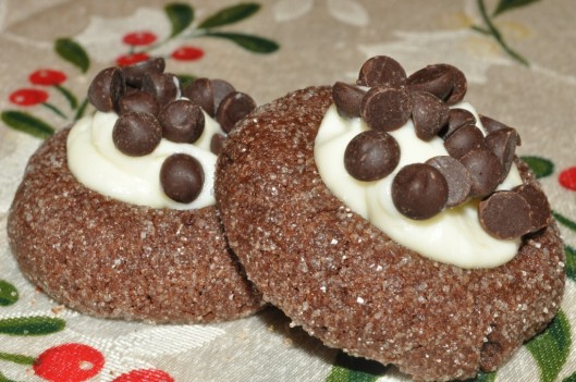 Chocolate-Cream Cheese Thumbprints