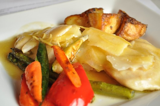 Chicken with Pear and Parmiggiano-Reggiano