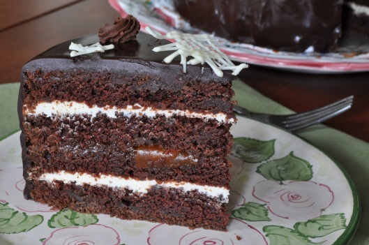 A Slice of Triple Chocolate Star Cake