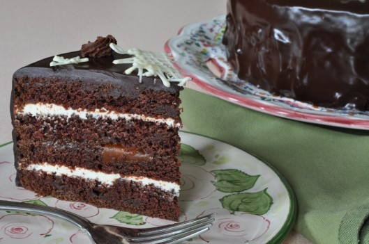 Triple Chocolate Star Cake