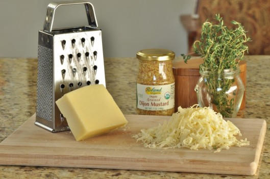 Grate the gruyere