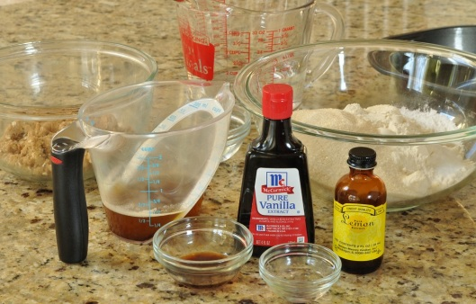 Ingredients for Brown Butter Cake