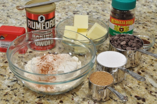 Ingredients for Espresso Cinnamon Chip Cookies