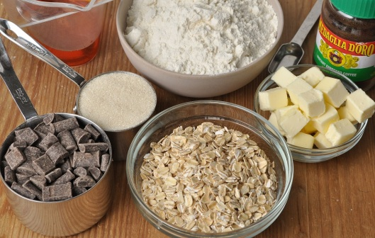 Ingredients for Oat-Chocolate Chunk Biscotti