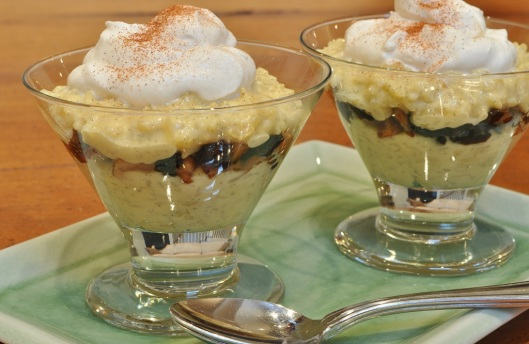 Rice Pudding with Winter Fruit Compote