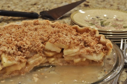 Serving the Quince-Apple Pie