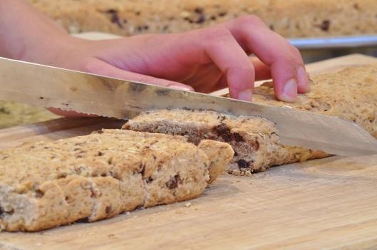 Slice the biscotti