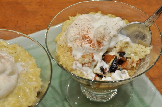 Wintery Rice Pudding