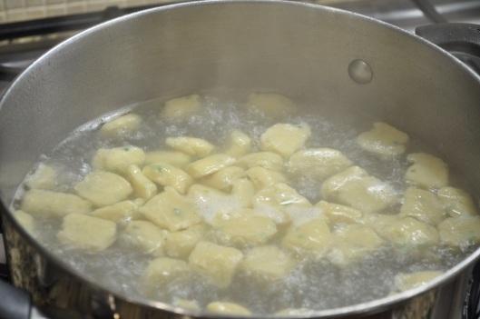 Boil the dumplings