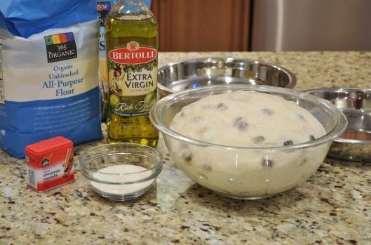 Cinnamon-Raisin Focaccia Dough