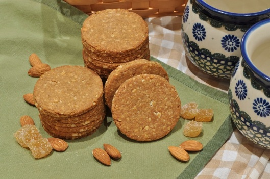 Almond Biscuits with Ginger and Lemon
