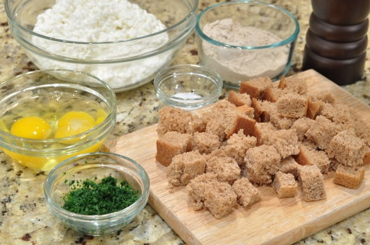 Ingredients for Cottage Cheese Cutlets