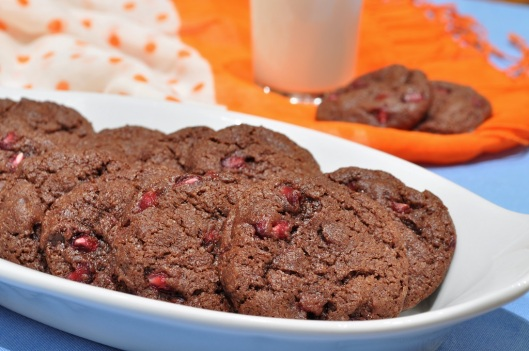 Pomegranate-Double Chocolate Cookies