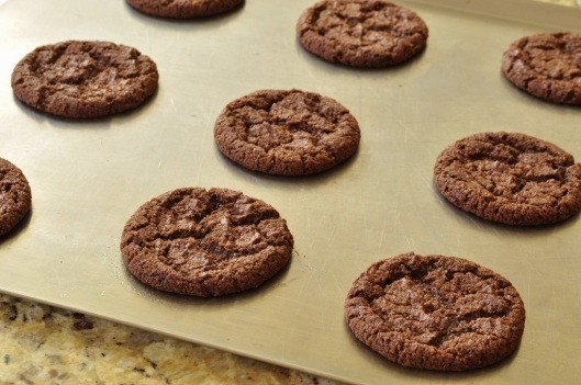 A Tray of Chocolate-Malt Cookies