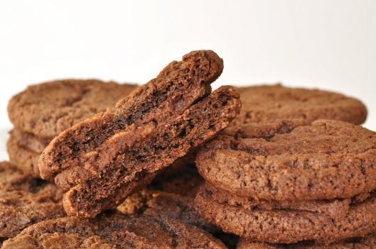 Chocolate-Malt Rice Crispy Sandwich Cookie