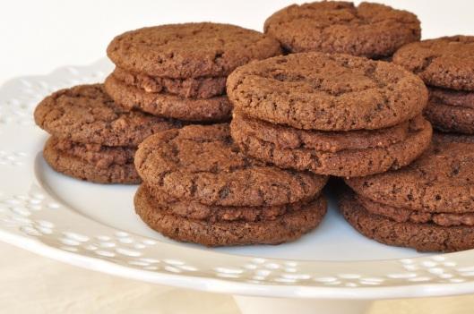 Chocolate-Malt Sandwich Cookies