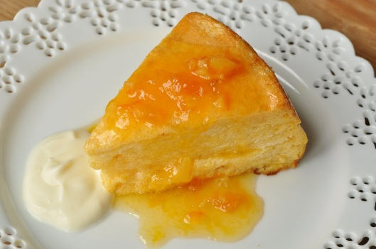 Dried Apricot Souffle Cake with Apricot -Grand Marnier Sauce