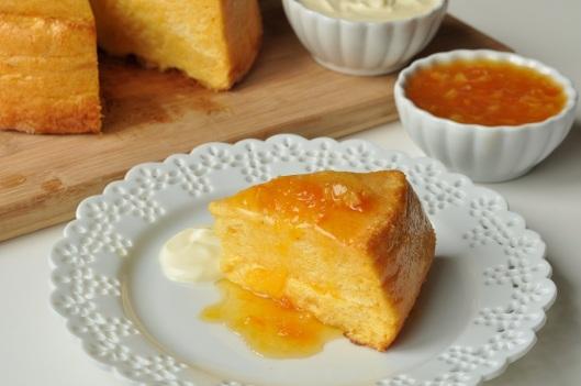 Dried Apricot Souffle Cake