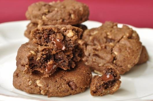 Chocolate Chunk Cookies with Rice Crispies