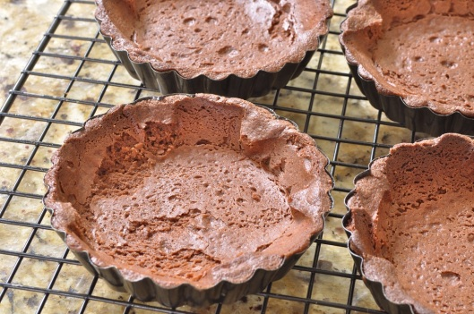 Chocolate-Cointreau Tart Shells