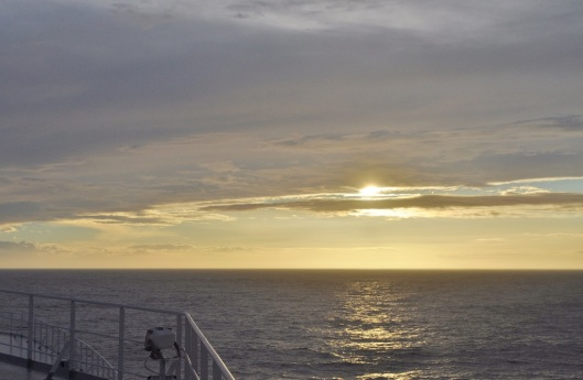 Early Morning on the Bow of the QM2