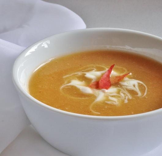 QE2 Nectarine Soup