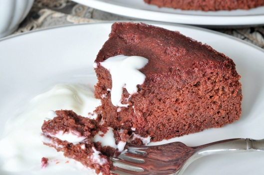 Enjoying a Slice of Chocolate-Beet Cake