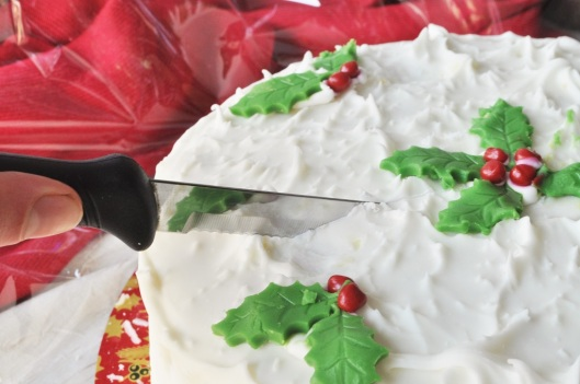 Cutting the Christmas Cake
