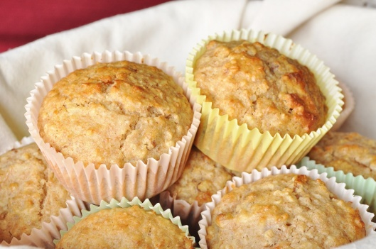 A Basket of Oat-Pecan Marmalade Muffins
