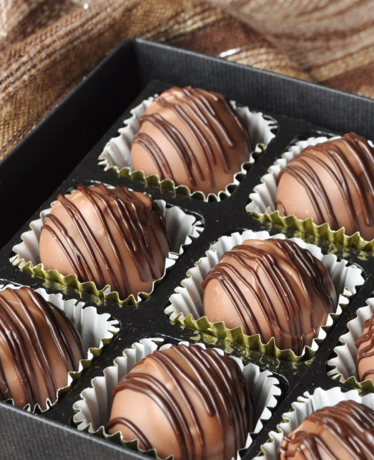 Coffee-Cointreau Fillled Chocolates