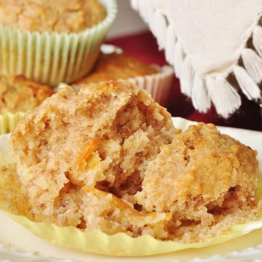 Enjoying an Oat-Pecan Marmalade Muffin