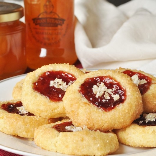Ginger-Strawberry Thumbprint Cookies (2)
