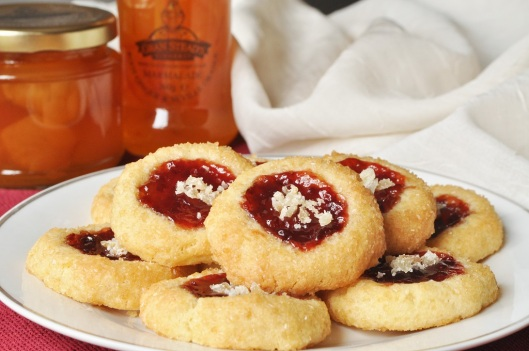 Ginger-Strawberry Thumbprint Cookies