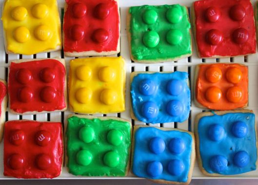 lego biscuits close up