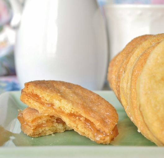 A Rose-Pear-Cornmeal Shortbread Sandwich Cookie