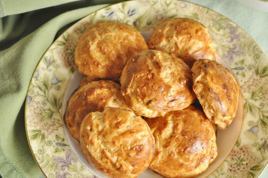 Burnished Chive-Gruyere Gougeres