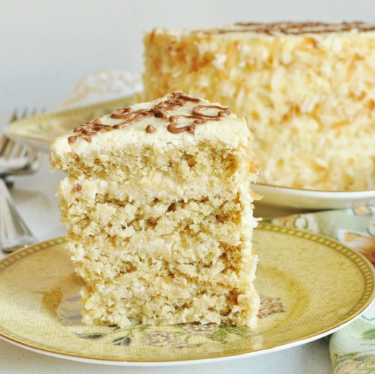 Coconut-White Chocolate Birthday Cake - Copy
