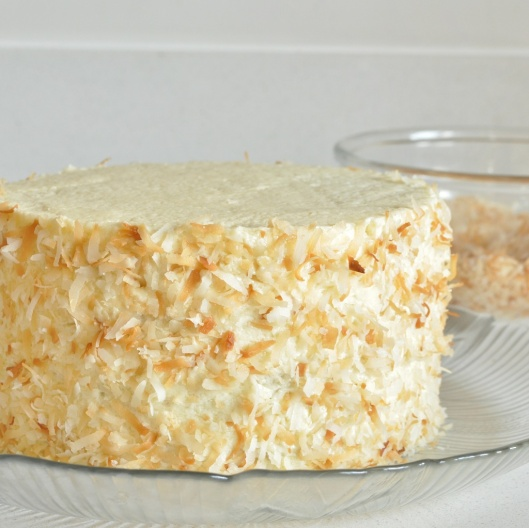 Coconut-White Chocolate Layer Cake