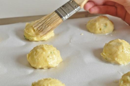 Eggwash the Gougeres