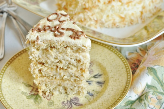 Four-Layer Coconut White Chocolate Layer Cake