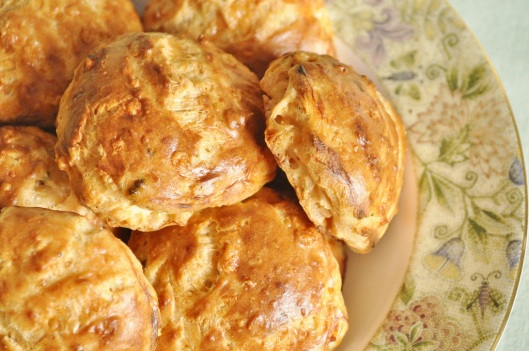 Gruyere Gougeres with Mustard and Chives