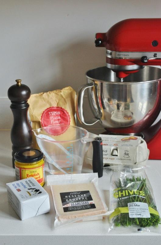 Ingredients for Gougeres