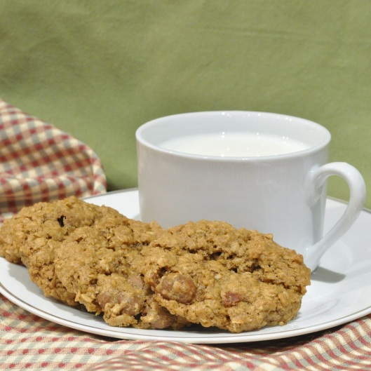 Oatmeal-Chocolate-Covered Raisin Cookies