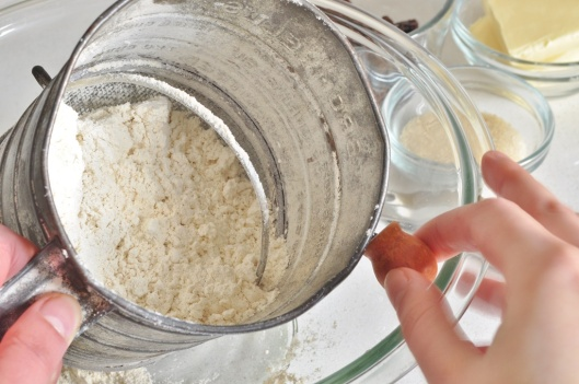 Sift the flour