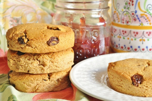Peanut Butter-Honey-Raisin Scones